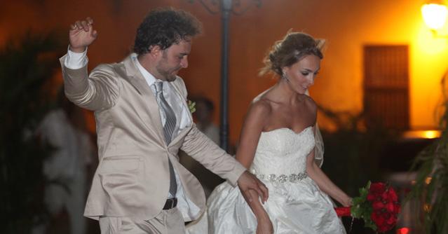 Manolo Cardona se casó con Valeria Santos en Cartagena