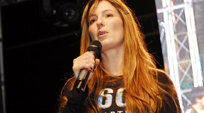 Claudia Bahamon vocera de la campaña ambiental 'La Hora del Planeta'