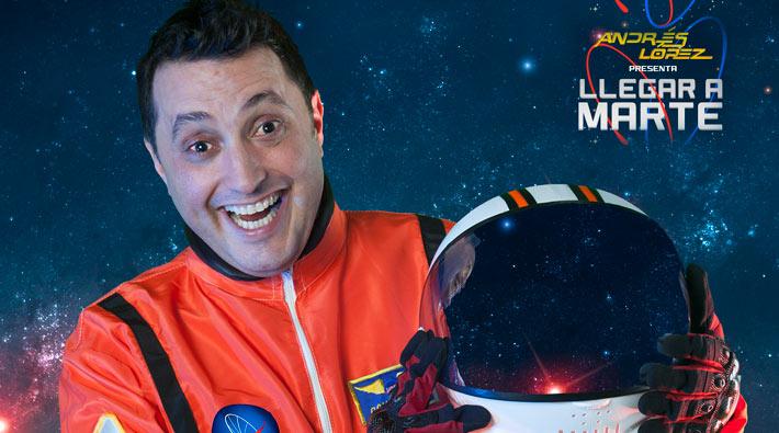 Andrés López presenta su nuevo show 'Llegar a Marte'