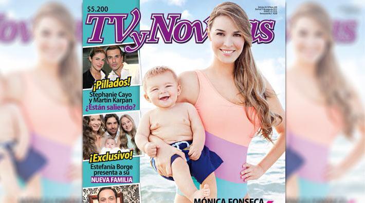 Foto: Mónica Fonseca y su hijo son portada de la revista Tv y Novelas