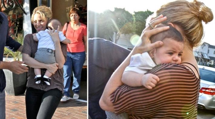 Shakira fue captada con su hijo Milan de compras en Hollywood