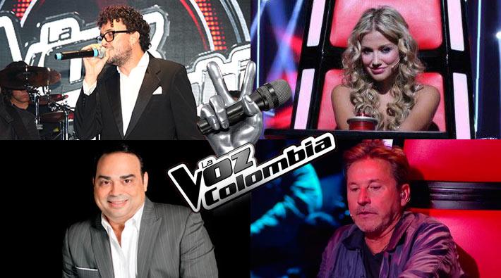 Entrenadores de segunda temporada de La Voz Colombia