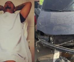 Cantante Kevin Flórez sufrió accidente automovilístico