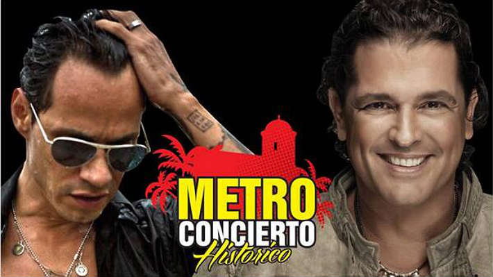 Metro concierto de Carlos Vives y Marc Anthony en Cartagena
