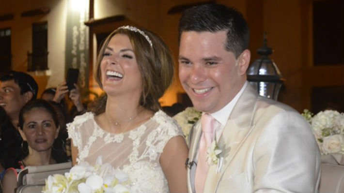 Siad Char se casó con Luis Carlos Vélez en Cartagena