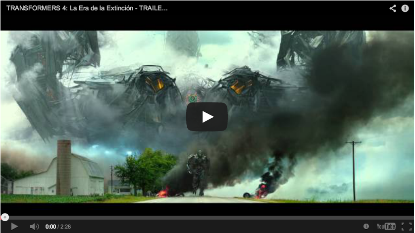 Subtitulado: Paramount revela primer trailer de Transformers 4