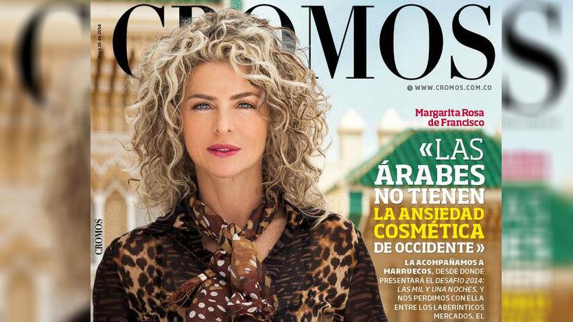 Margarita Rosa de Francisco es portada de la Revista Cromos