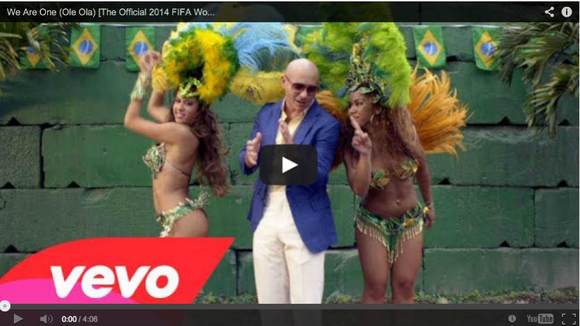 Pitbull y Jennifer López presentan videoclip del Mundial Brasil