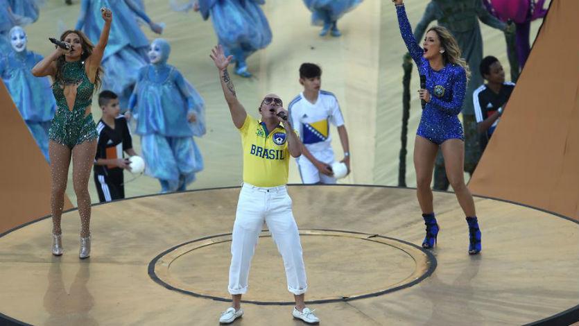 Pitbull y Jennifer López inauguraron el Mundial Brasil 2014
