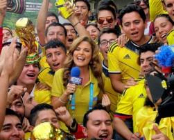 Rochi Stevenson es la sensación de la prensa en el Mundial Brasil 2014