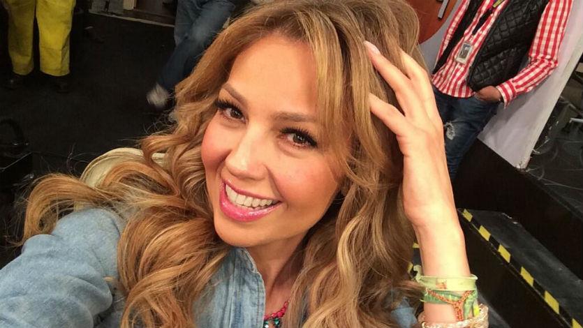 Thalía en problemas por uso indebido de bandera mexicana