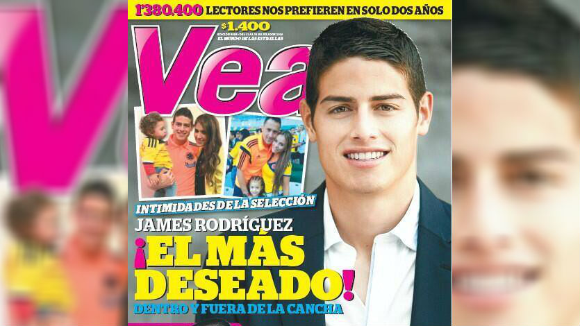 el futbolista james rodr guez es portada de la revista vea
