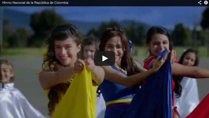 Publican nuevo video oficial del Himno Nacional de Colombia