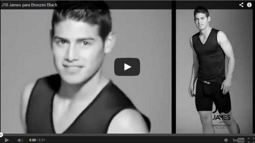 James Rodríguez es imagen de la ropa interior Bronzini del Grupo Exito
