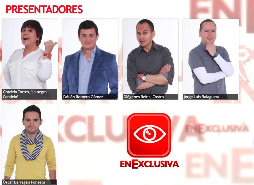 Presentadores de 'En Exclusiva'
