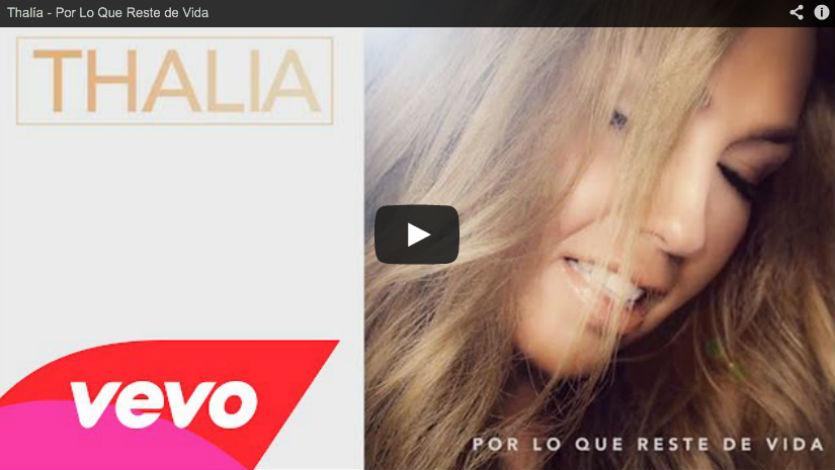 Thalía presenta su nueva canción 'Por lo que reste de vida'