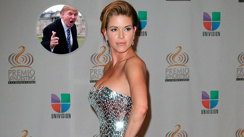 Alicia Machado explota contra el magnate Donald Trump