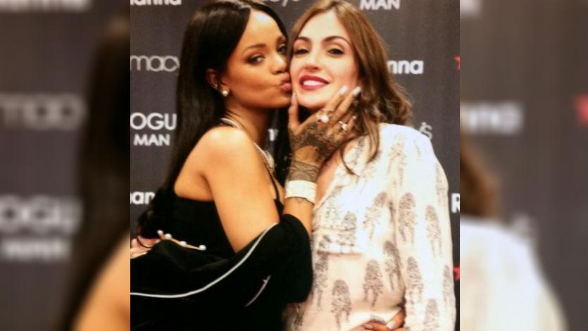 Natalia Betancourt conoció a la cantante Rihanna