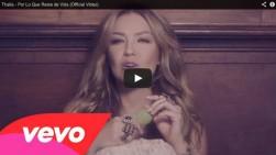 Thalía estrena el video de la canción 'Por lo que reste de vida'