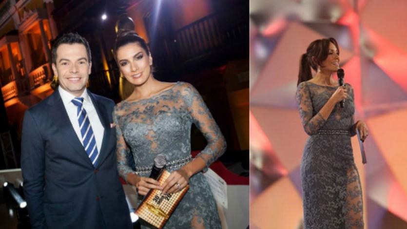 Carolina Gómez usó mismo vestido que Andrea Serna en los India Catalina