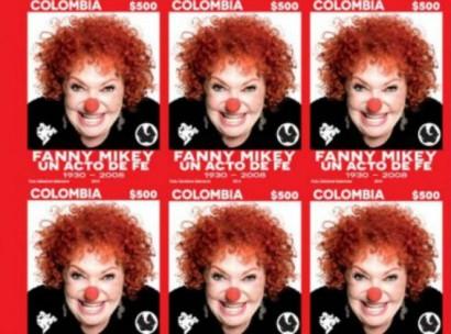 Fanny Mikey ahora estará en las estampillas colombianas