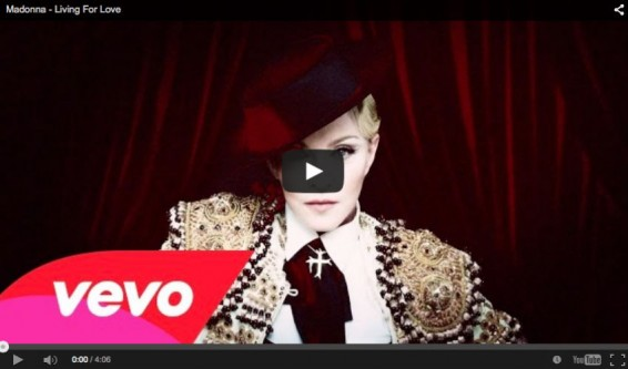Madonna estrena el video de su nueva canción 'Living for love'