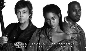 Rihanna estrena videoclip junto a Kanye West y Paul McCartney