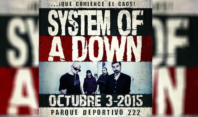 System Of A Down estará de concierto en Colombia