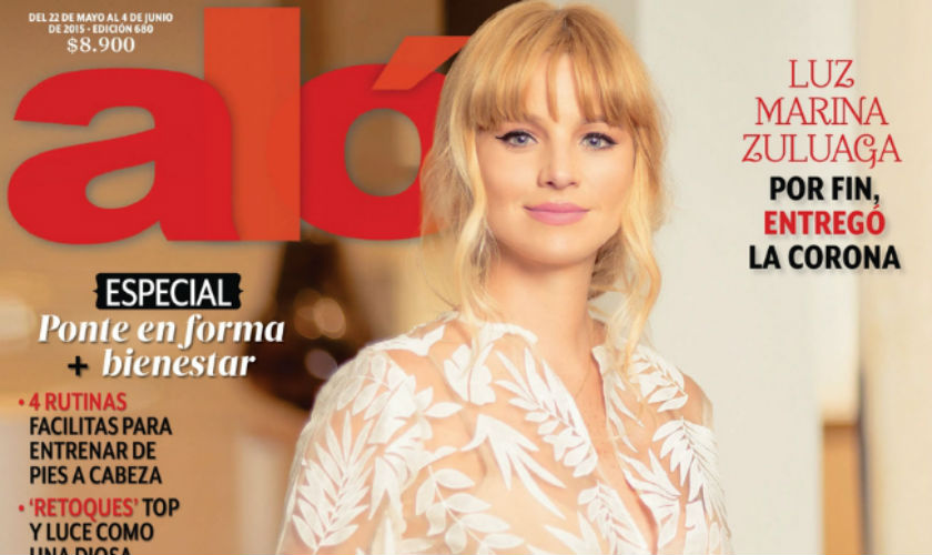 Johana Bahamón muestra su embarazo en la Revista ALÓ