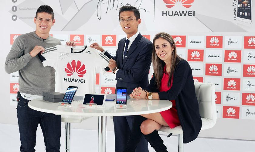 James Rodríguez es la imagen de Huawei en Colombia