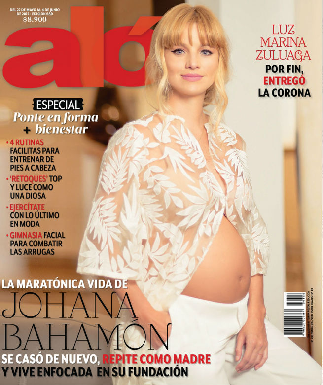 Johana Bahamón Portada Revista ALÓ