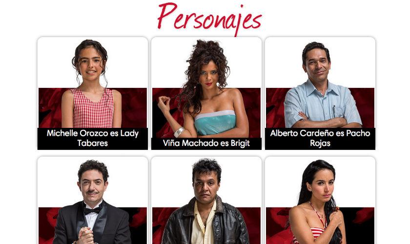 Personajes de 'Lady, la vendedora de Rosas'