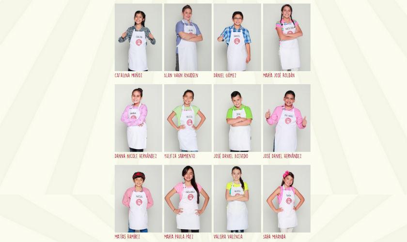 Participantes de MasterChef Junior Colombia