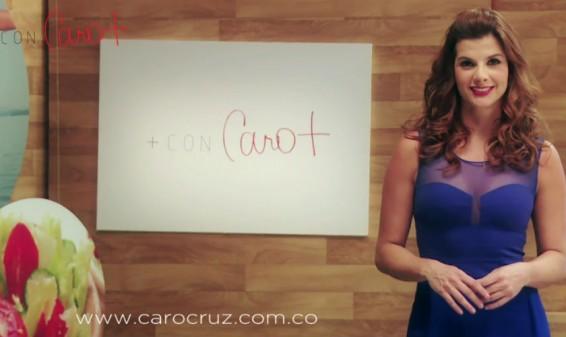 Carolina Cruz estrena su programa en internet 'Más con Caro Cruz'