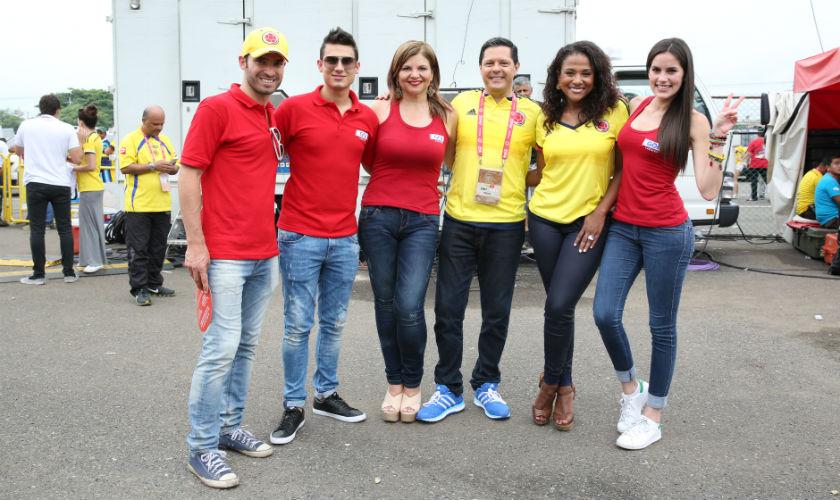 Talento Caracol presente en el partido Colombia Vs Argentina