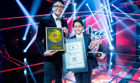 Luis Mario Torres, ganador de la segunda temporada de La Voz Kids