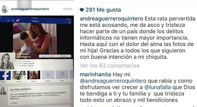 Andrea Guerrero denuncia acoso