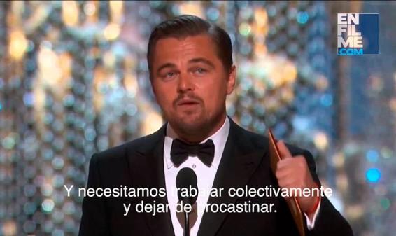 Así fue el discurso de Leonardo DiCarpio en los Premios Oscar's