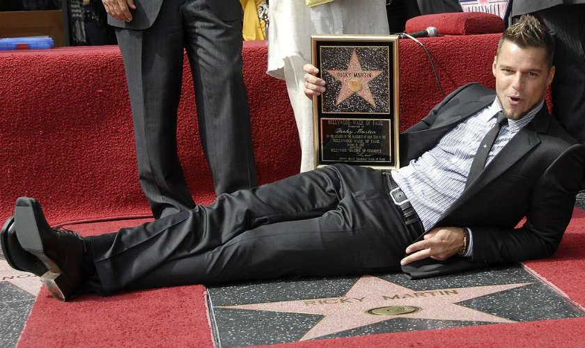 Ricky Martin desvela su estrella en paseo de la fama