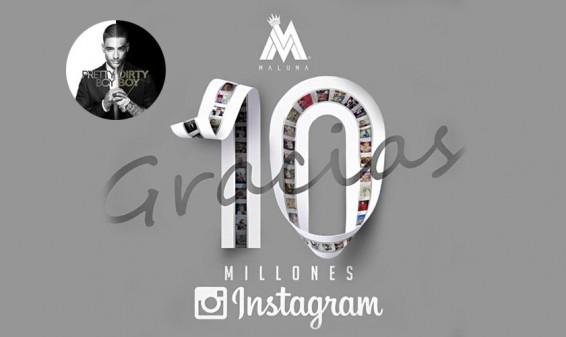 Maluma consigue 10 millones de seguidores en su perfil de Instagram