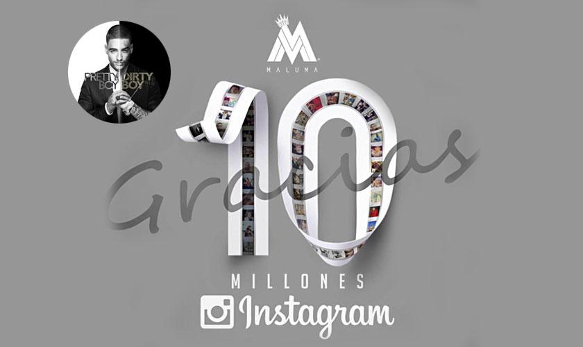Maluma consigue 10 millones de seguidores en Instagram