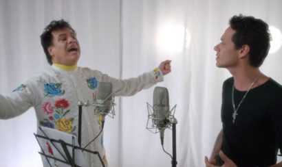 Juan Gabriel y Marc Anthony en el video de 'Yo te recuerdo'
