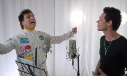 Juan Gabriel y Marc Anthony en el video de 'Yo te recuerdo'