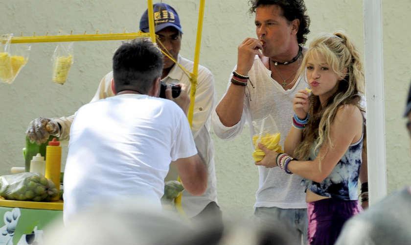 Shakira y Carlos Vives graban video de La Bicicleta