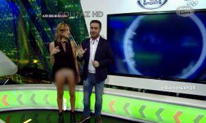 Presentadora Alina Moine muestra todo en TV en vivo