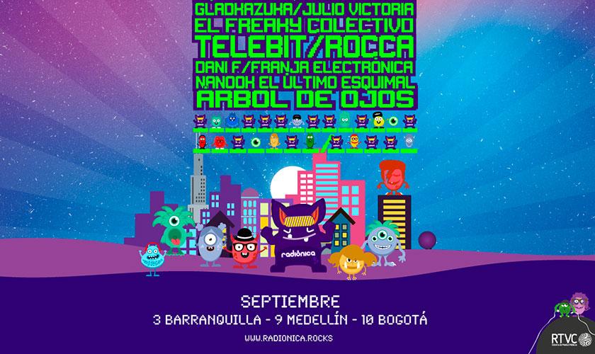 Fechas y artistas del concierto Radiónica