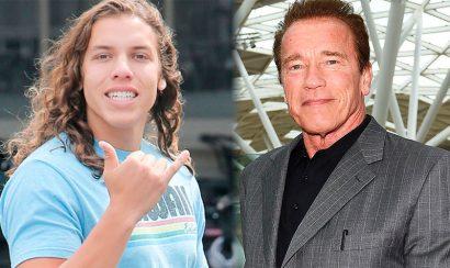 Arnold Schwarzenegger muestra con orgullo su hijo - Entretengo