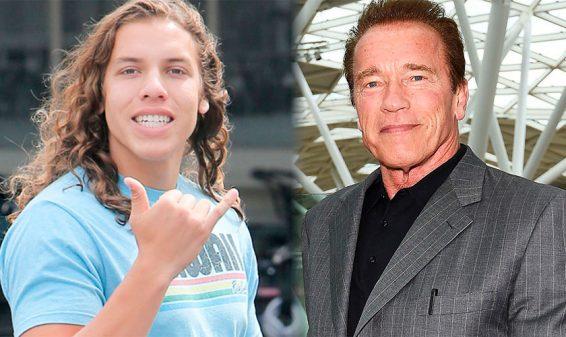 Schwarzenegger muestra con orgullo hijo que le costó su matrimonio