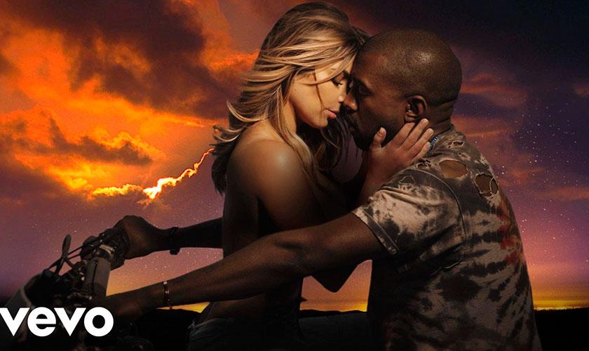 Kim Kardashian protagoniza nuevo video de su novio Kanye West