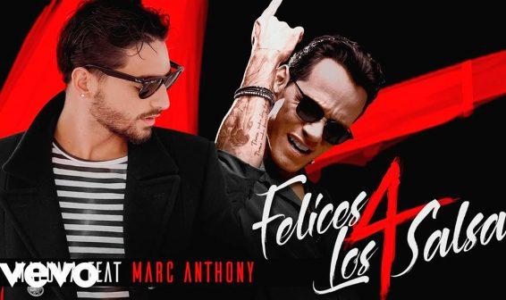 Maluma presenta junto a Marc Antony versión salsa de 'Felices los 4'